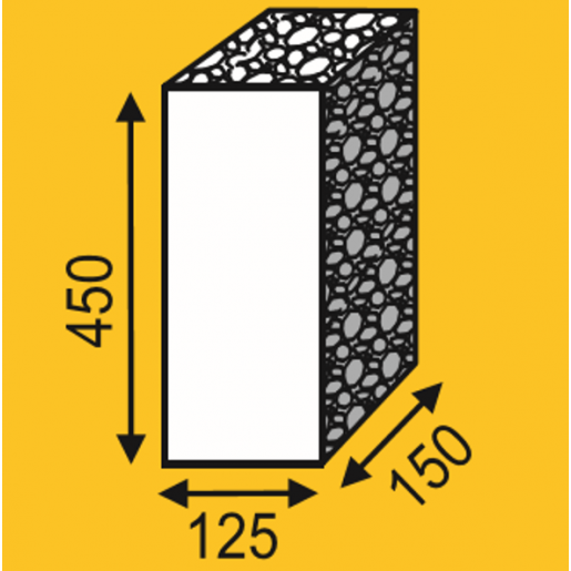 Palisada 45x12.5x15 cm