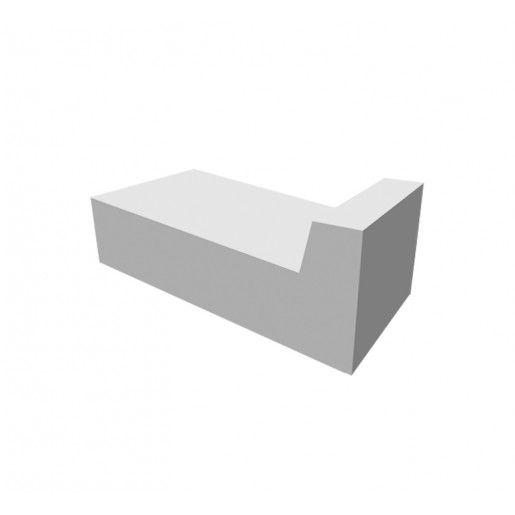 Rigola V Acostament 33x60x15x25 cm, Gri