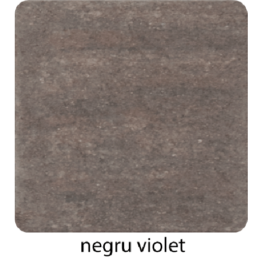 Viena 20x20x6 cm, Negru Violet