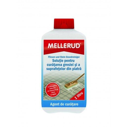 Solutie pentru curatarea gresiei si a suprafetelor din piatra Mellerud 0059, 1l