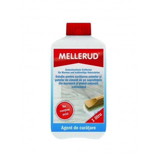 Solutie pentru curatarea urmelor si petelor de ciment de pe suprafetele din marmura si piatra naturala calcaroasa Mellerud 0981, 1l