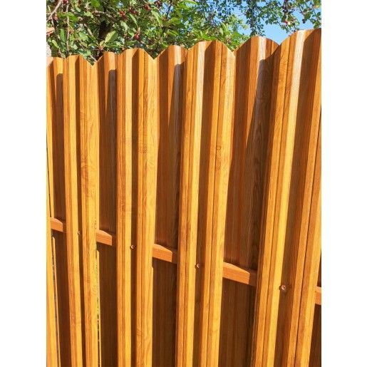 Set 25 buc/3 ml Sipca Metalica Gard Imitatie Lemn Dublu Stejar Striat 0.50 mm
