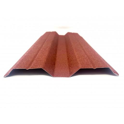 Set 25 buc Sipca Metalica Orizontala Gard V-Mat Structurat Caramiziu 0.50 mm