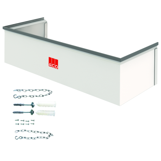 Element cu inaltime reglabila 3-30 cm si kit de montaj pentru curti de lumina cu latime 80 cm, adancime 40 cm