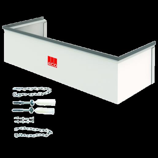 Element cu inaltime reglabila 3-30 cm si kit de montaj pentru curti de lumina cu latime 100 cm, adancime 40 cm