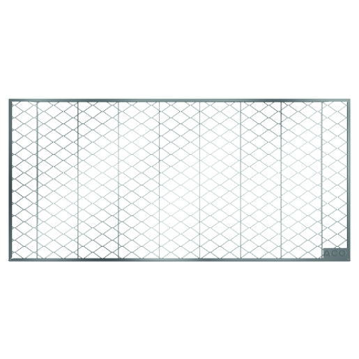 Gratar plasa curte lumina din otel zincat, 40x80 cm