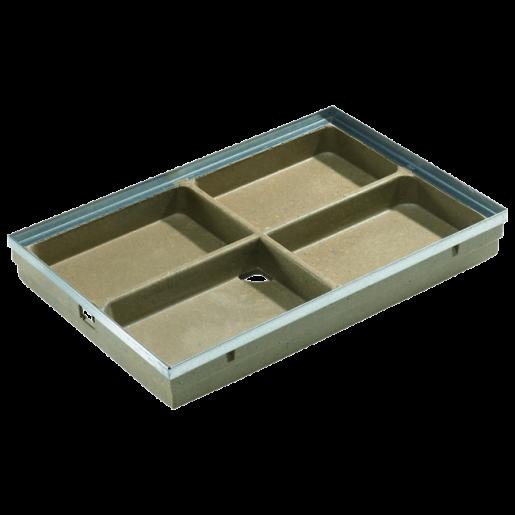 Tava pentru stergator de picioare Self Vario din beton cu polimeri 75x50x8 cm