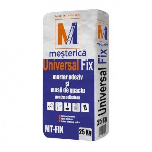 Adeziv si masa de spaclu pentru polistiren Mesterica Universal Fix, 25 kg