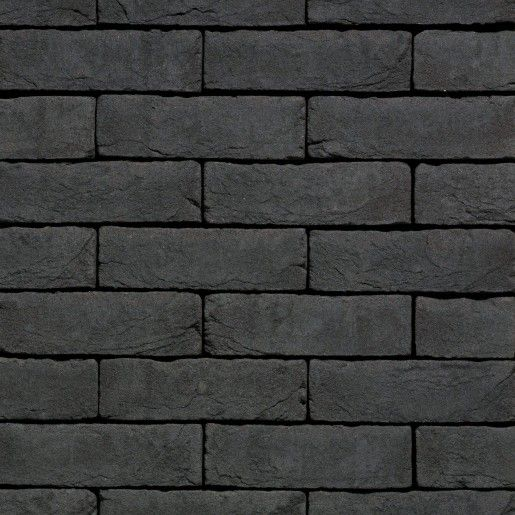 Coltar mic klinker Terca Agora Grafietzwart, 18.5x6.5x2.3 cm