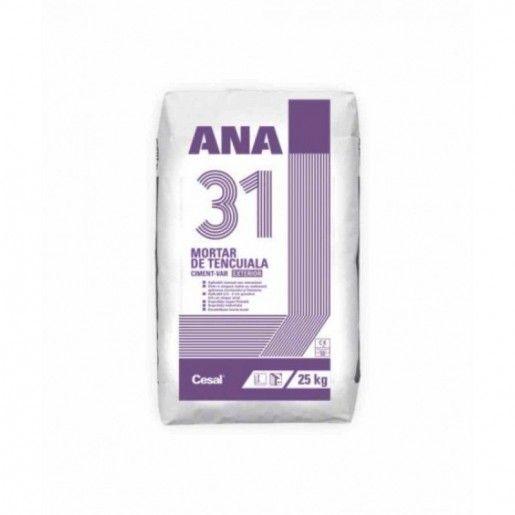 Mortar de tencuiala cu aplicare mecanizata pentru interior si exterior, ANA 31, 25 kg