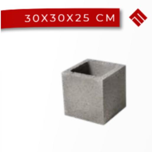 Boltar Stalp 30x30x25 cm, Gri