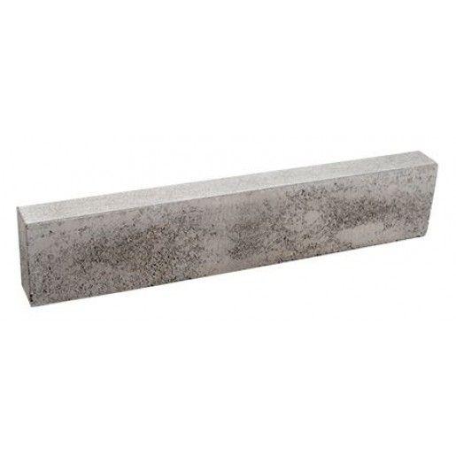 Bordura stradala cu quartz 100x15/12x25 cm, Gri
