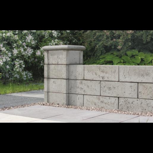 Bradstone Argento Bloc Stalp 30x30x15 cm, Gri Argintiu Nuantat
