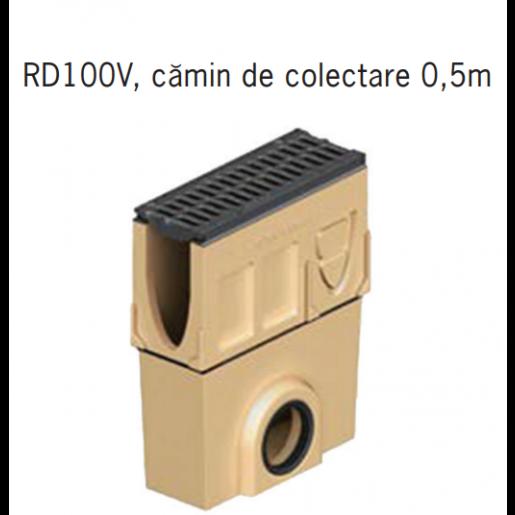 Camin colector Monoblock RD 100 din beton cu polimeri 50x16x52.5 cm DN160
