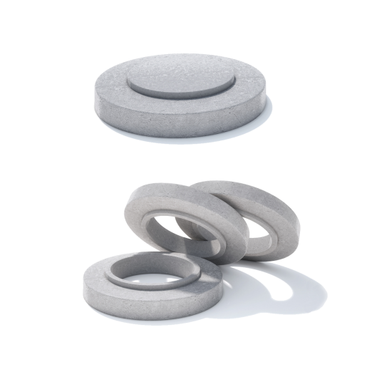 Rama circulara beton armat D 86.5 di 77.9 H 20 H1 16 H2 4 cm