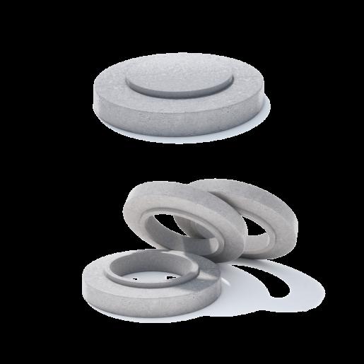 Rama circulara beton armat D 104 di 77.9 H 20 H1 16 H2 4 cm