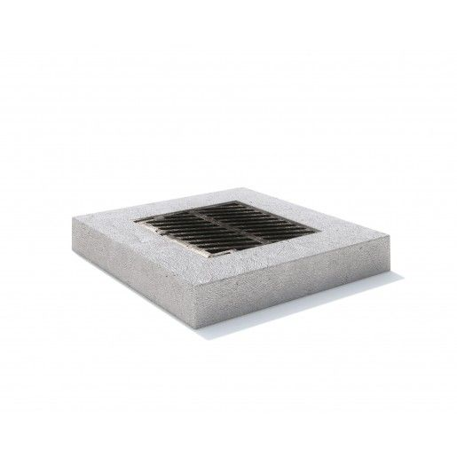 Rama rectangulara fonta+beton armat 100x100x20 cm