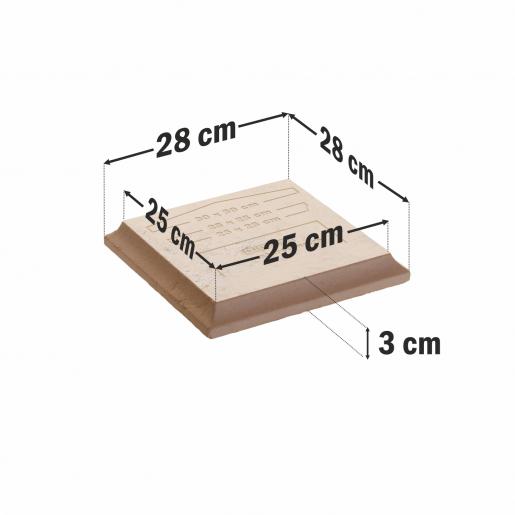 Capitel Pentru Capac 30x30 cm (25x25/28x28)x4 cm, Smoke