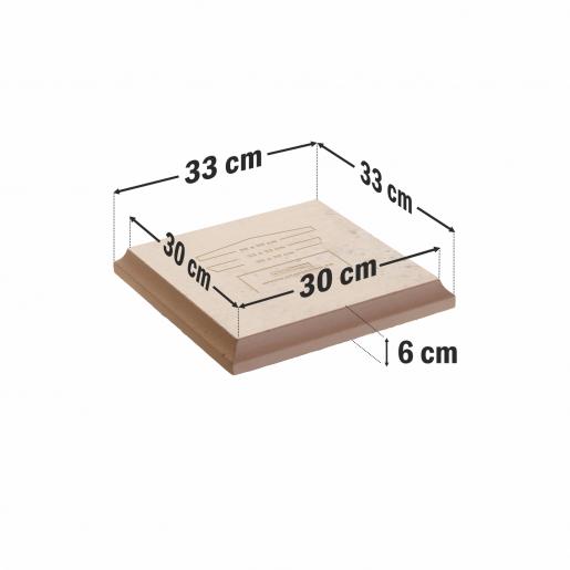Capitel Pentru Capac 35x35 cm (30x30/33x33)x4 cm, Smoke
