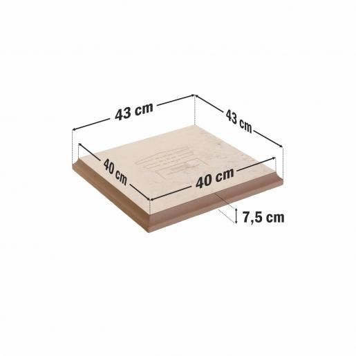 Capitel Pentru Capac 45x45 cm (40x40/43x43)x4 cm, Smoke