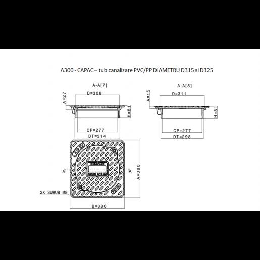 Capac compozit A15 pentru tub DN315