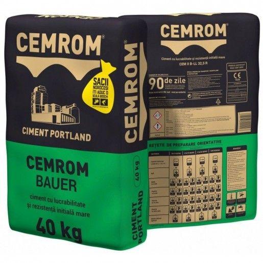 Ciment Cemrom Bauer CEM II/B-LL 32.5R, 40 Kg