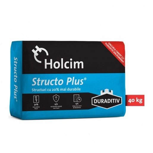 Ciment Structo Plus 42.5R cu duraditiv, 40 kg