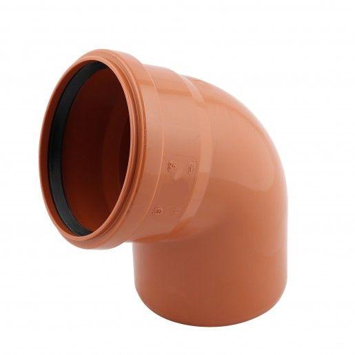 Cot PVC cu mufa inel, D110, cu unghi de 67 grade