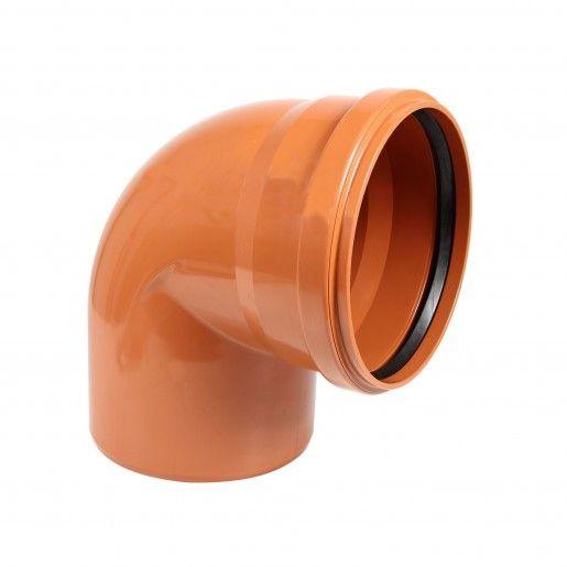 Cot PVC cu mufa inel, D110, cu unghi de 87 grade