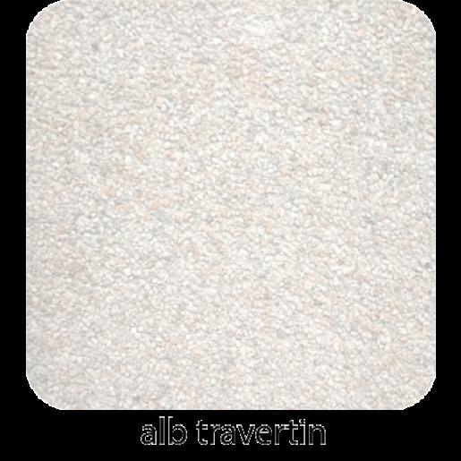 Alpin 30x20x6 cm, Alb travertin