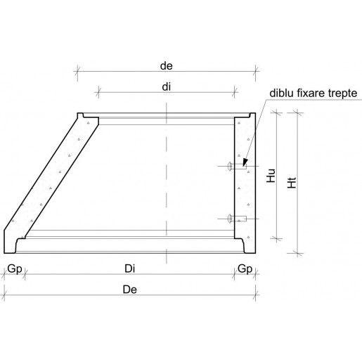 Cap tronconic D 120/85 di 100/65 h 60 H 67 cm