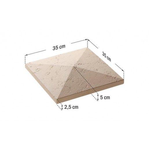 Capac Stalp 35x35x5 cm, Smoke