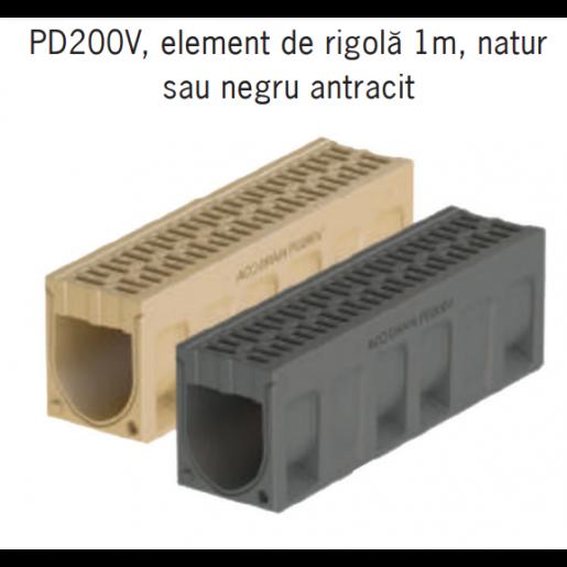 Element de rigola Monoblock PD 200 fara panta prefabricata 100x25x32 cm