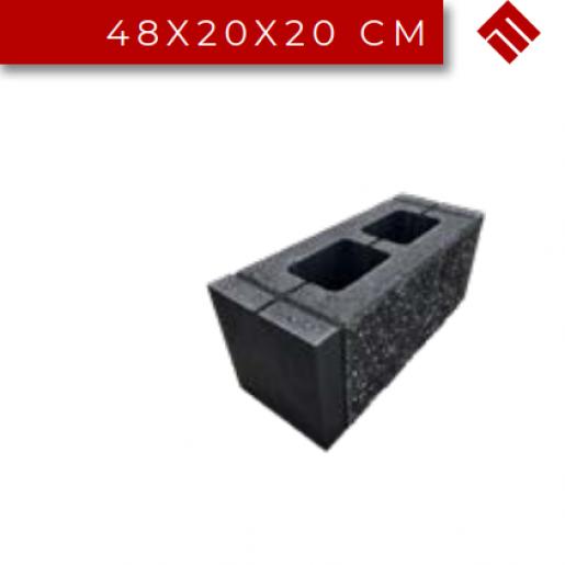 Element Gard Splitat Dublu 48x20x20 cm