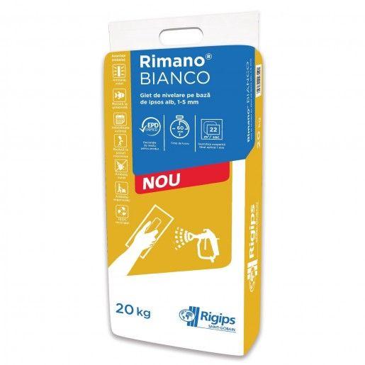 Glet de finisaj Rigips Rimano, Alb, 20 kg