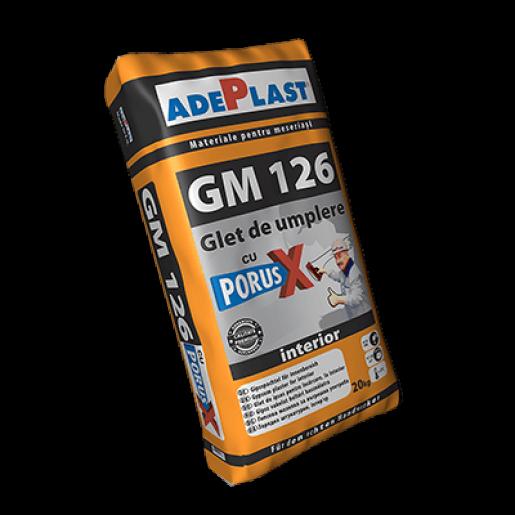 Glet de umplere Adeplast GM 126, cu Porus X, pe baza de ipsos, interior, 20 kg