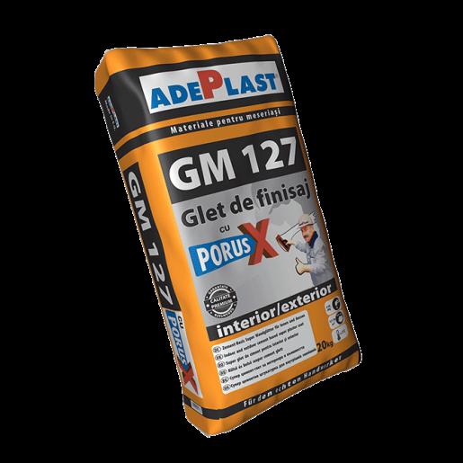 Glet de finisaj Adeplast GM 127, cu Porus X, pe baza de ciment, interior, 20 kg