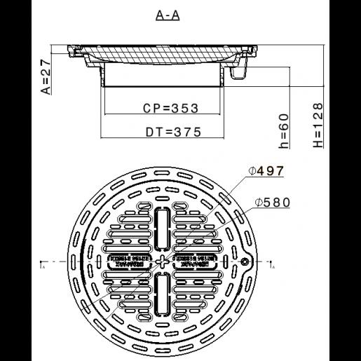 Gratar compozit B125 pentru tub DN400