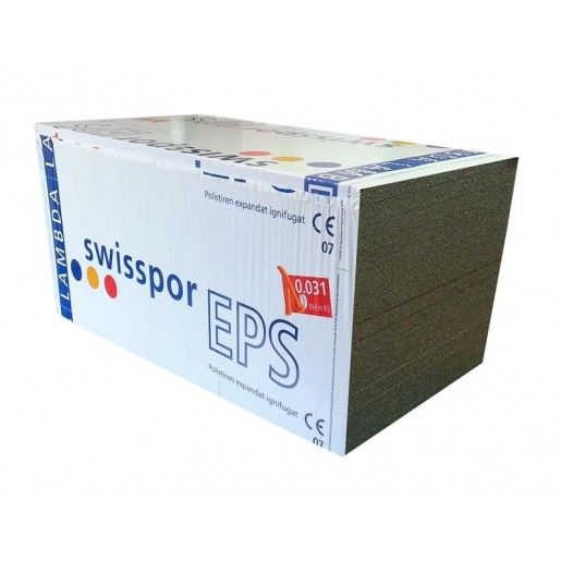 Polistiren expandat SwissporEPS 100 F LAMBDA Roof, 100x50x20 cm
