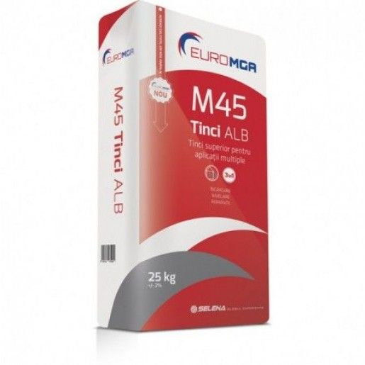 Tinci superior pentru aplicatii multiple, M45 Alb, 25 kg