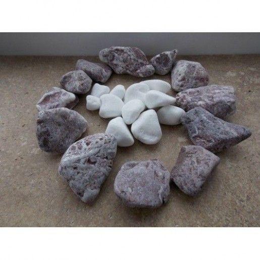 Marmura Rotunjita Rosie 1-2 cm, Sac 20 kg