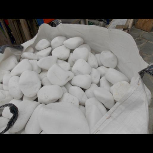 Marmura Rotunjita Alba Thassos 6-10 cm, Big Bag 1500 kg