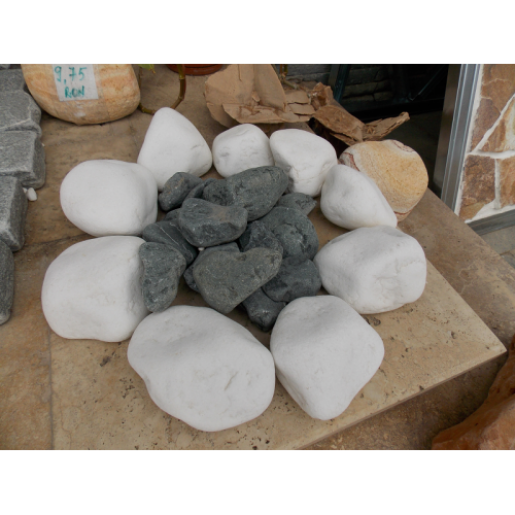 Marmura Rotunjita Alba Thassos 3-6 cm, Big Bag 1500 kg