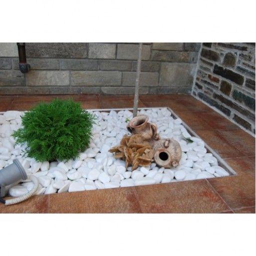 Marmura Rotunjita Alba Thassos 6-10 cm, Sac 20 kg