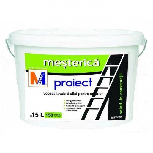 Vopsea lavabila Mesterica Proiect pentru exterior, 15 L