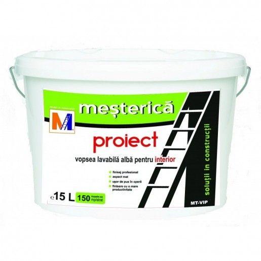 Vopsea lavabila Mesterica Proiect pentru interior, 15 L