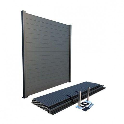 Panou Gard Aluminium Modern 200x200 cm Gri Antracit