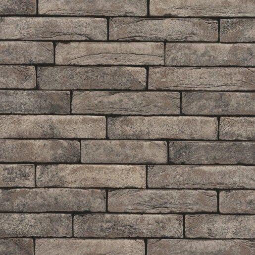 Coltar klinker Terca Pagus Grijs-Zwart, 21.5x6.5x2.3 cm
