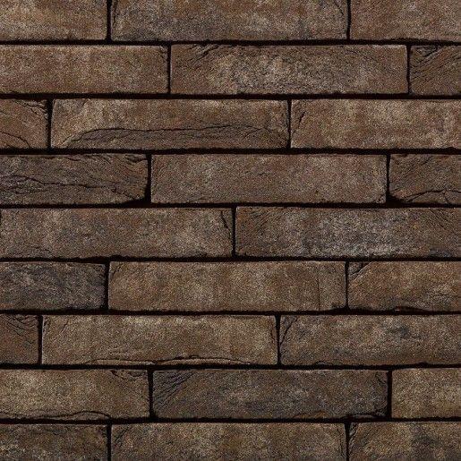 Coltar mic klinker Terca Pagus Bruin-Zwart, 18.5x6.5x2.3 cm