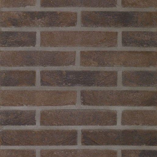 Caramida aparenta Terca Pagus Bruin-Zwart, 21.5x10.2x6.5 cm